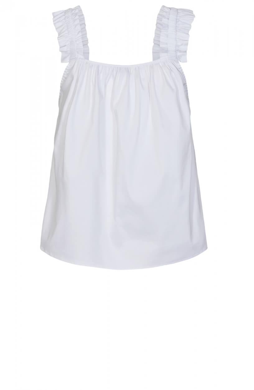 Levete Room Dames Isla blousetop Wit