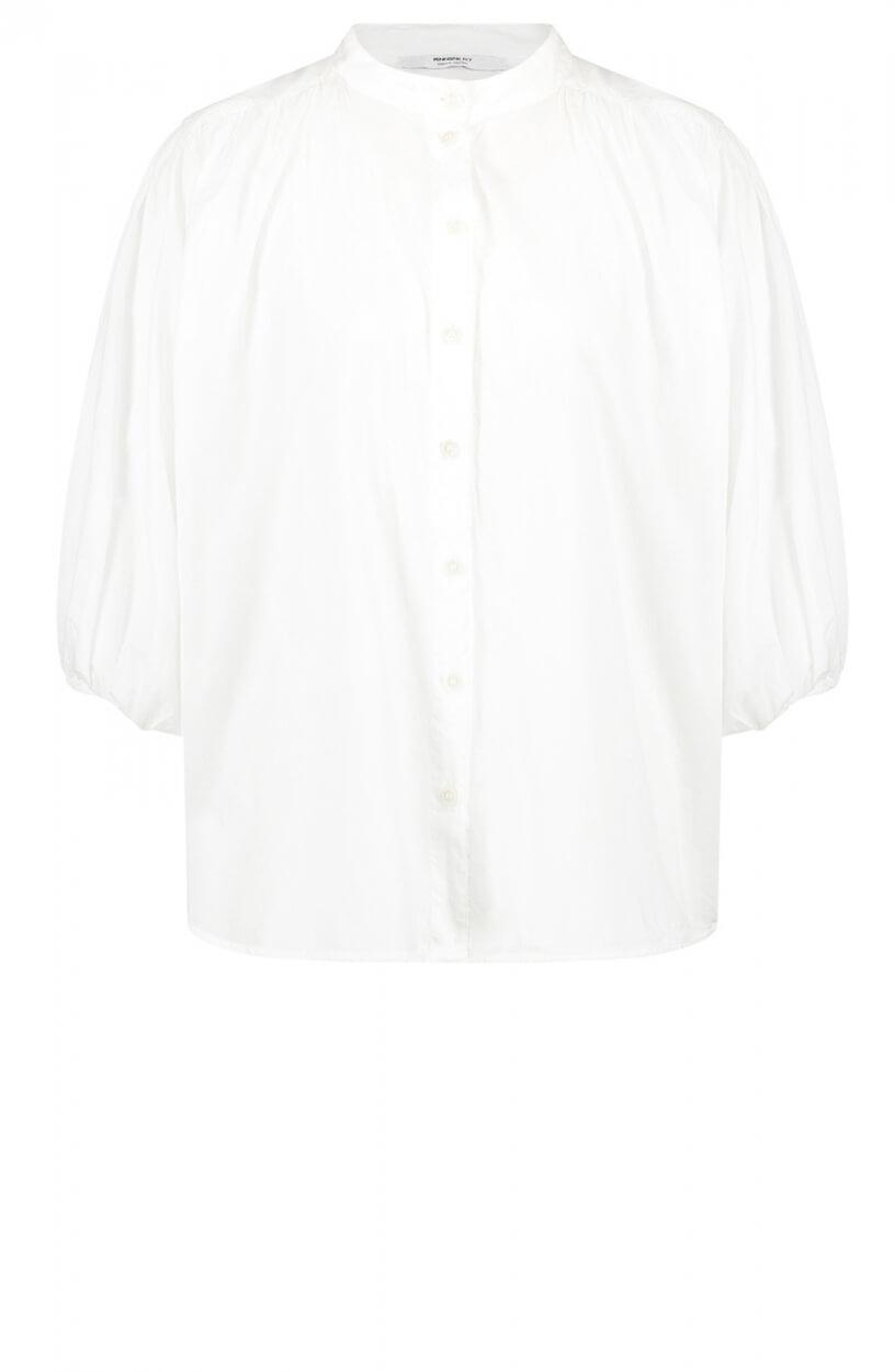 Penn & Ink Dames Oversized blouse Wit