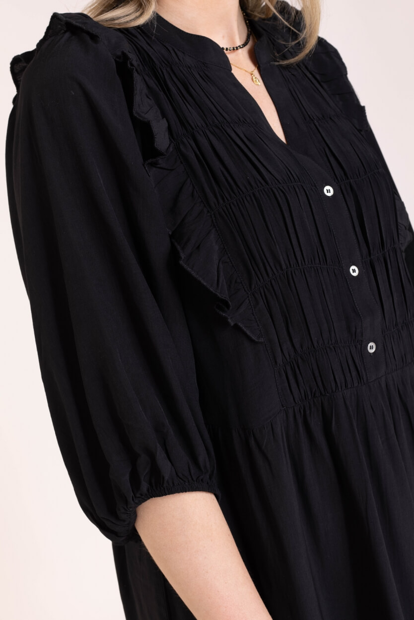 Co Couture Dames Samia jurk Zwart