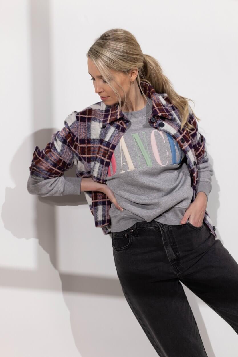 Anna Dames Overshirt met ruit Blauw