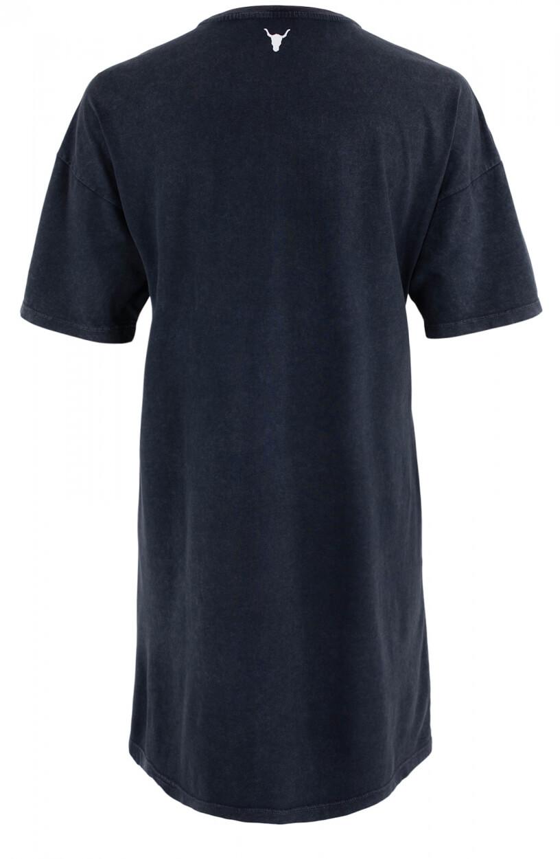 Alix The Label Dames Tiger t-shirt jurk Zwart