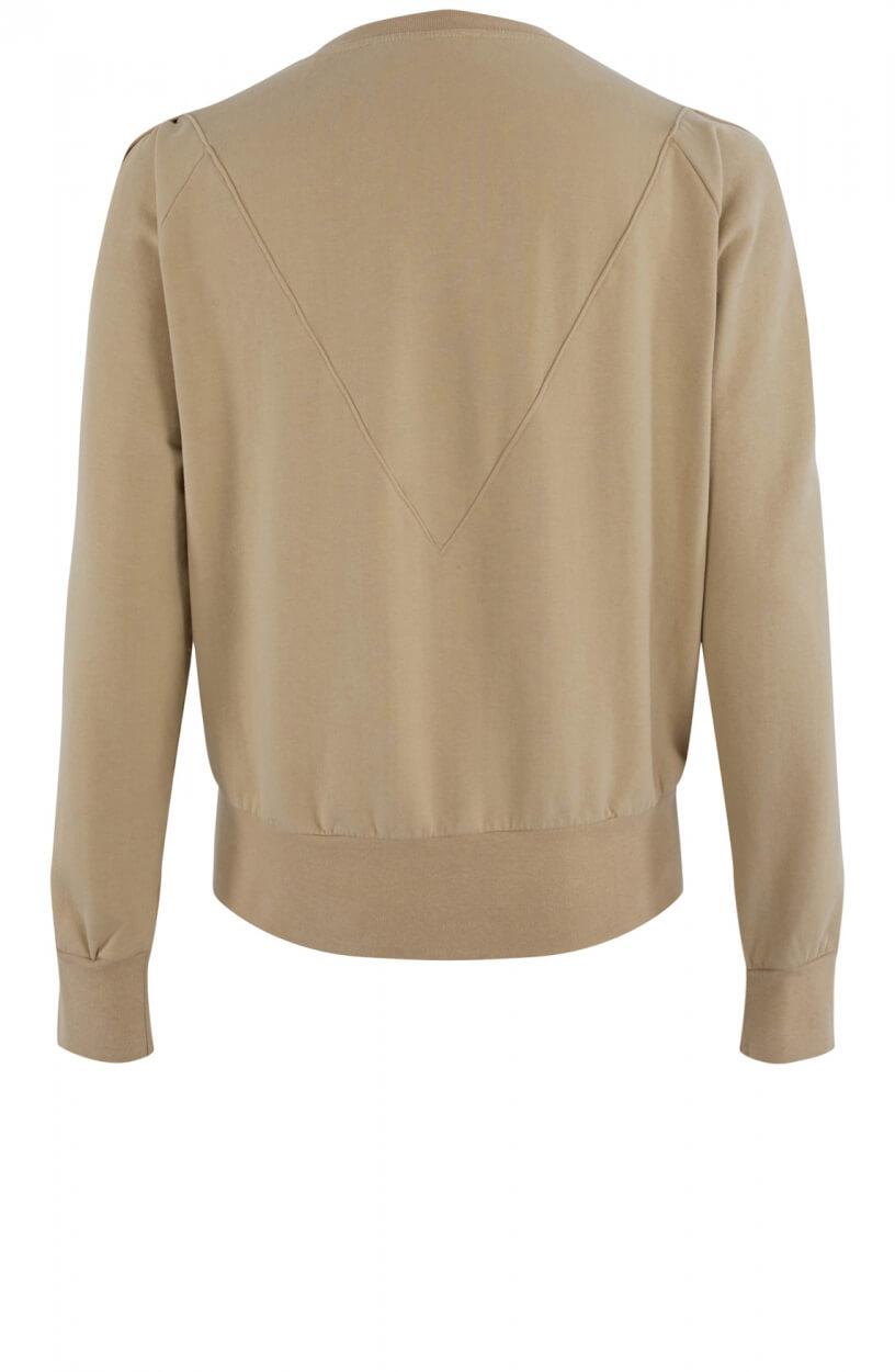 Penn & Ink Dames Oversized sweater Bruin