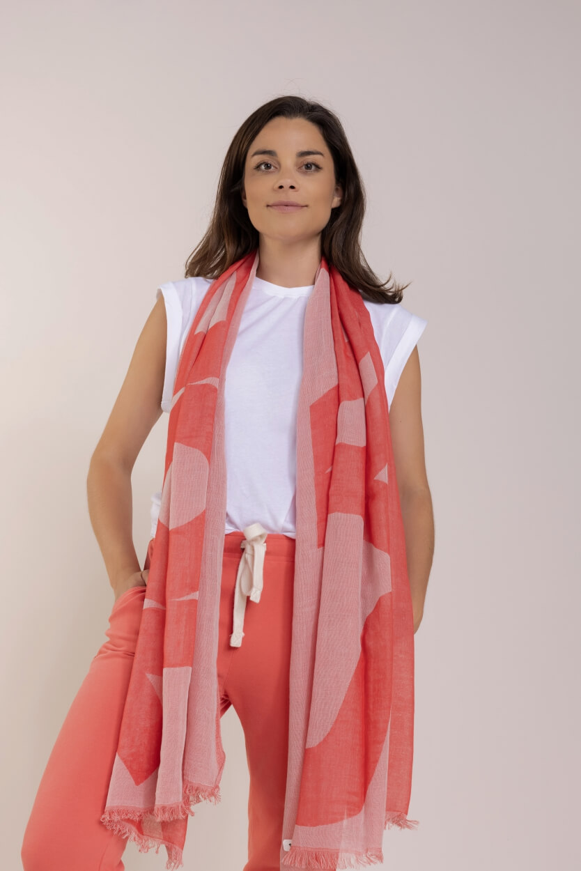 10 Days Dames Big logo sjaal Roze