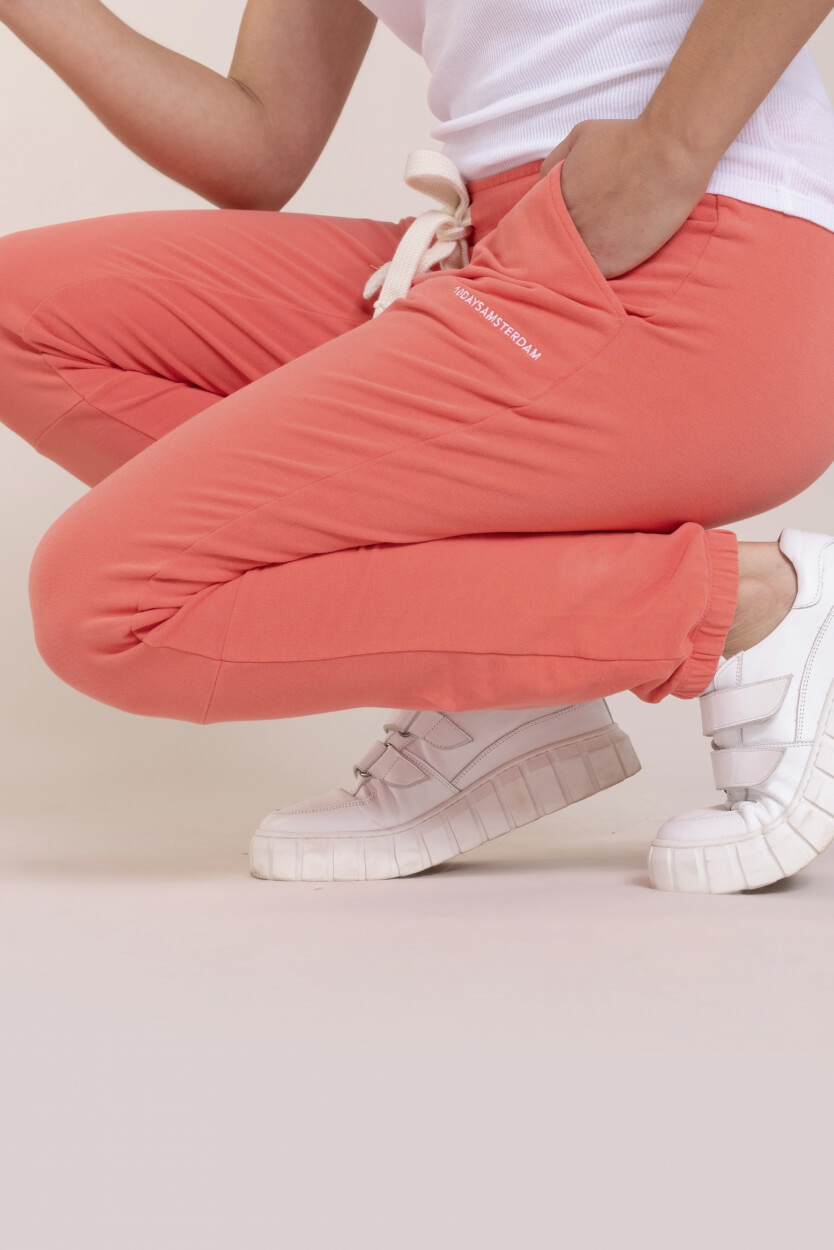 10 Days Dames Cropped jogger Roze