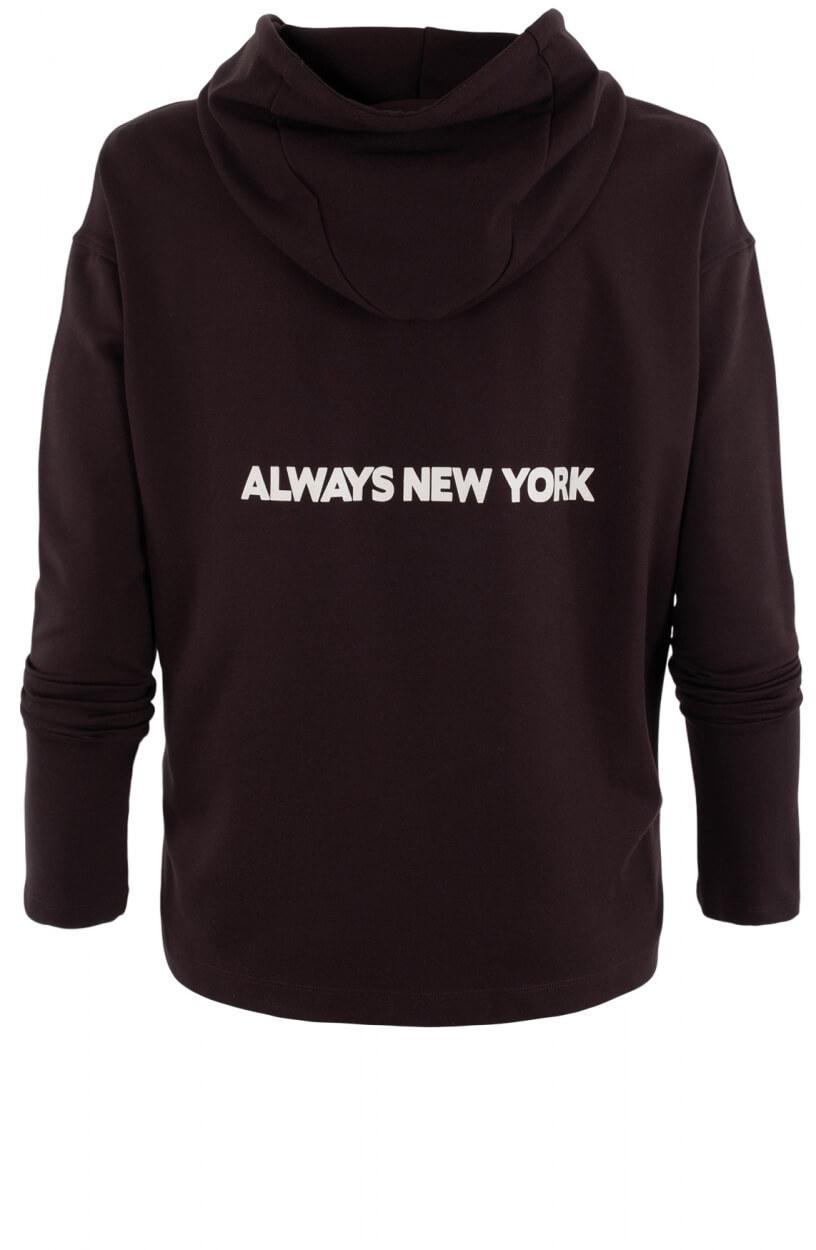 Penn & Ink Dames Oversized hoodie Bruin