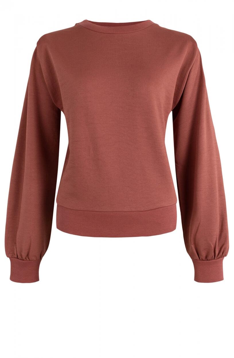 Anna Dames Sweater met schoudervulling Oranje