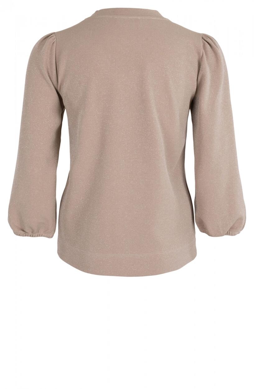Anna Dames Sweater met pofmouwen Grijs