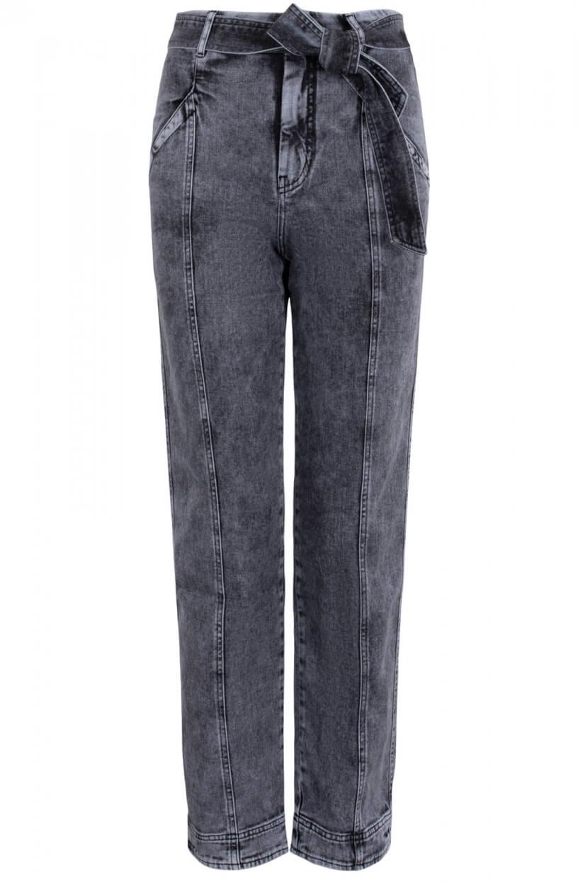 Anna Dames Jeans met ceintuur Zwart