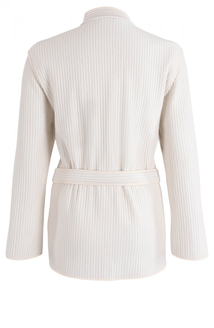 Closed Dames Vest met zakken Wit