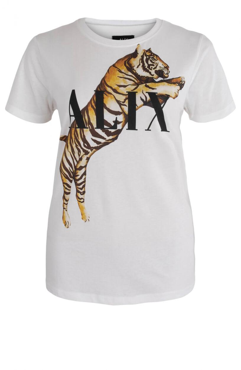 Alix The Label Dames Tiger t-shirt Wit