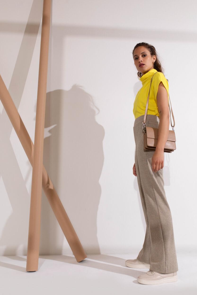 Anna Dames Oversized shirt met col Geel