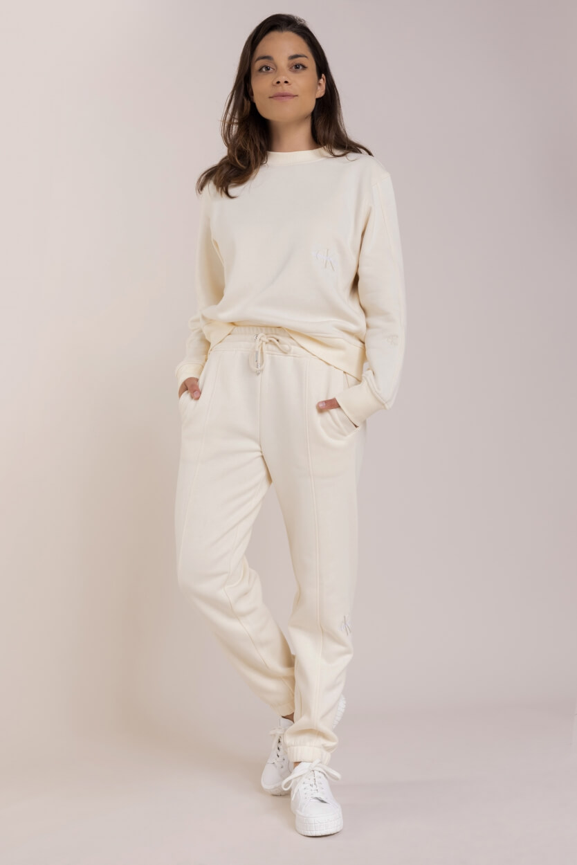Calvin Klein Dames Sweater met printlogo Wit