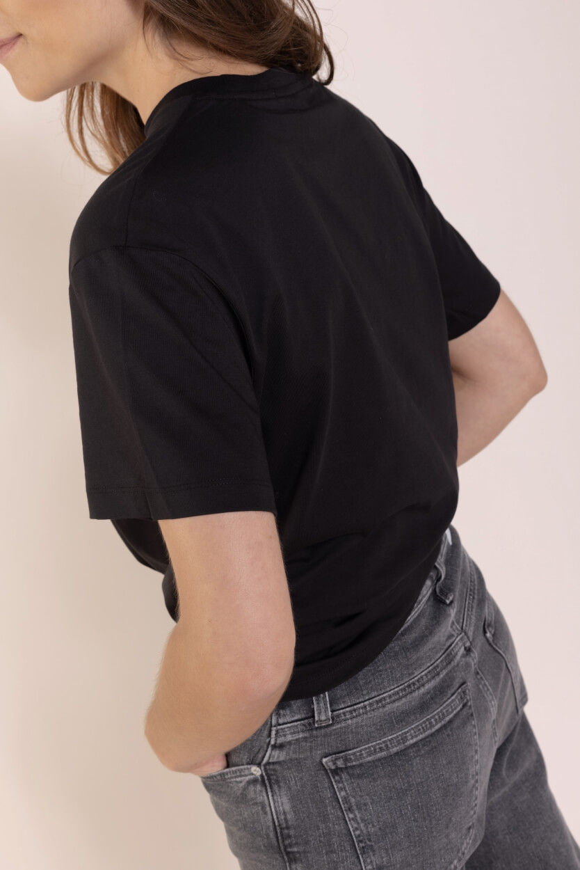 Calvin Klein Dames Shirt met knoop Zwart