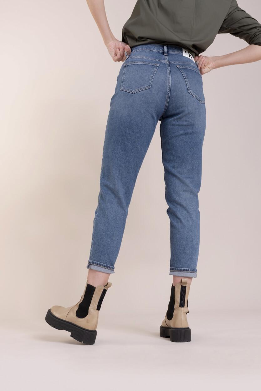 Calvin Klein Dames CK mom jeans Blauw