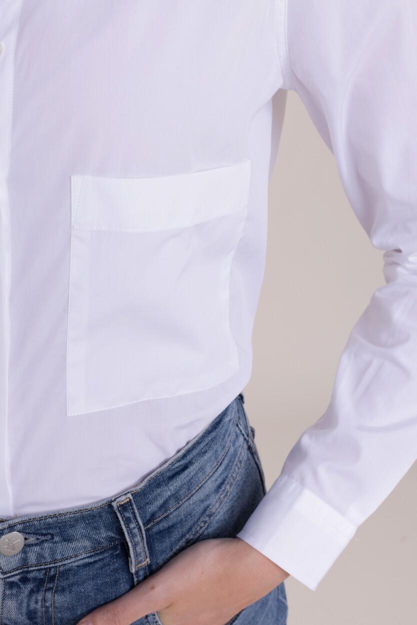 Closed Dames Overhemdblouse met zak Wit