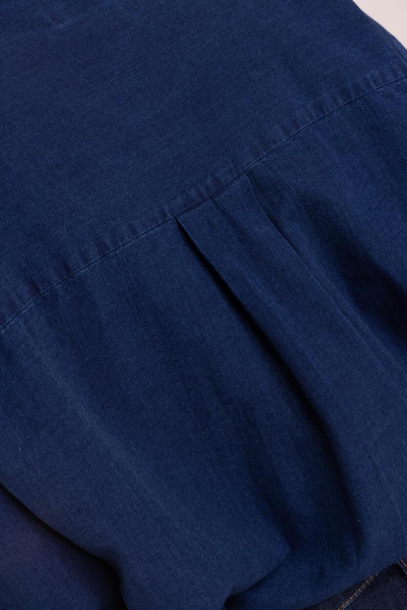 Closed Dames Blouse met zakken Blauw