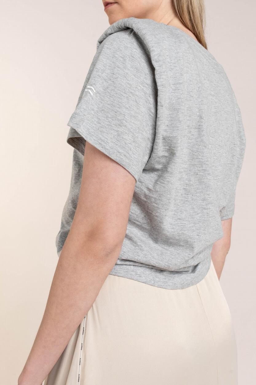 10 Days Dames Shirt met knoop Grijs