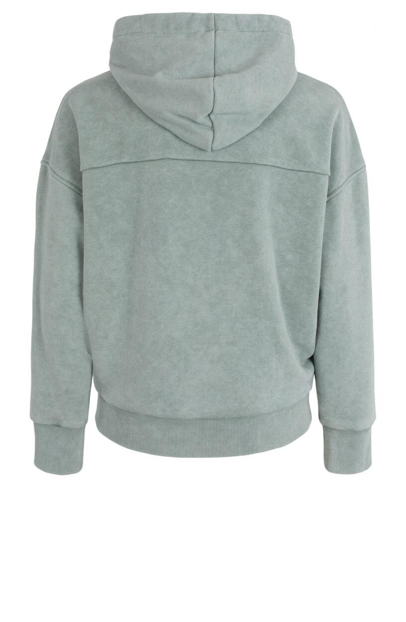 Anna Blue Dames Logo sweater Groen