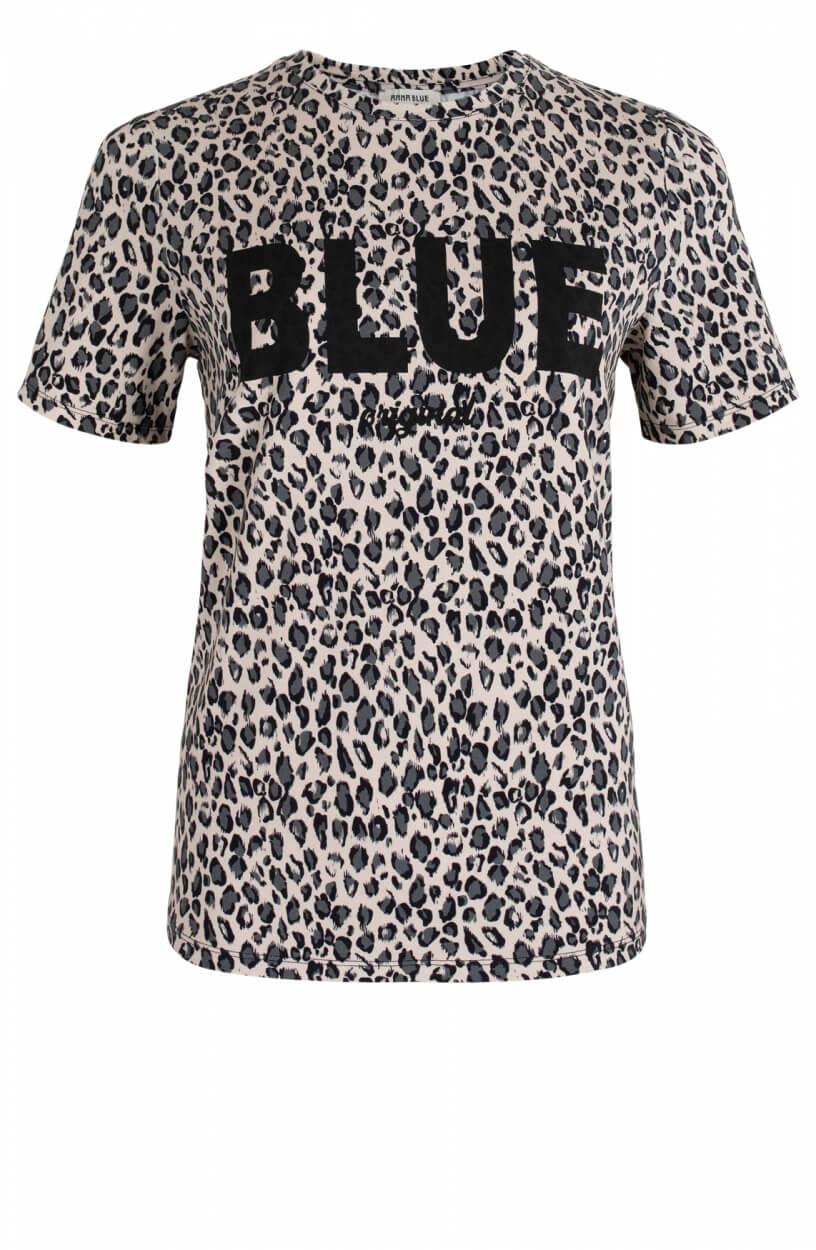 Anna Blue Dames Logo shirt Groen