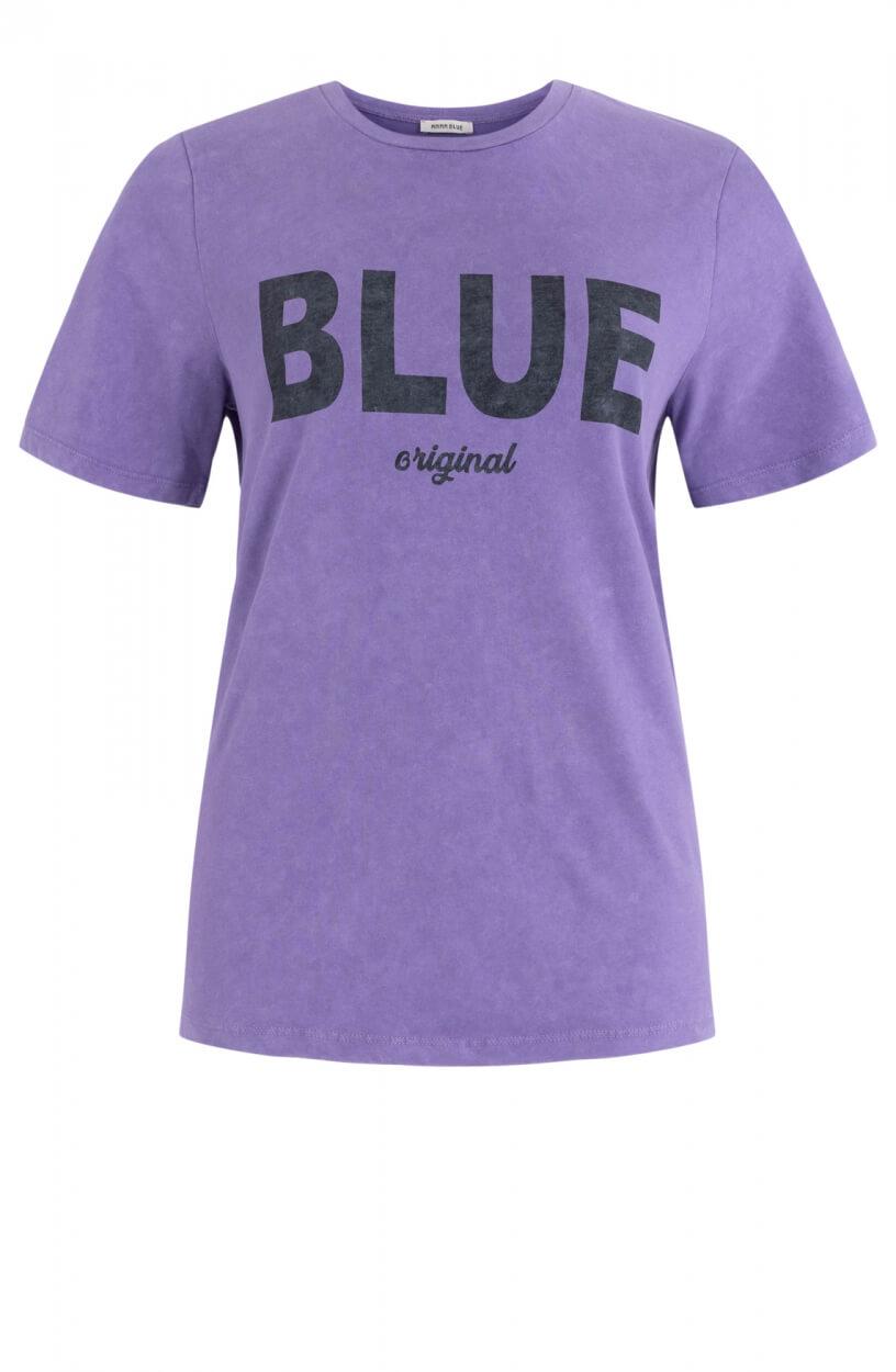 Anna Blue Dames Logo shirt Paars