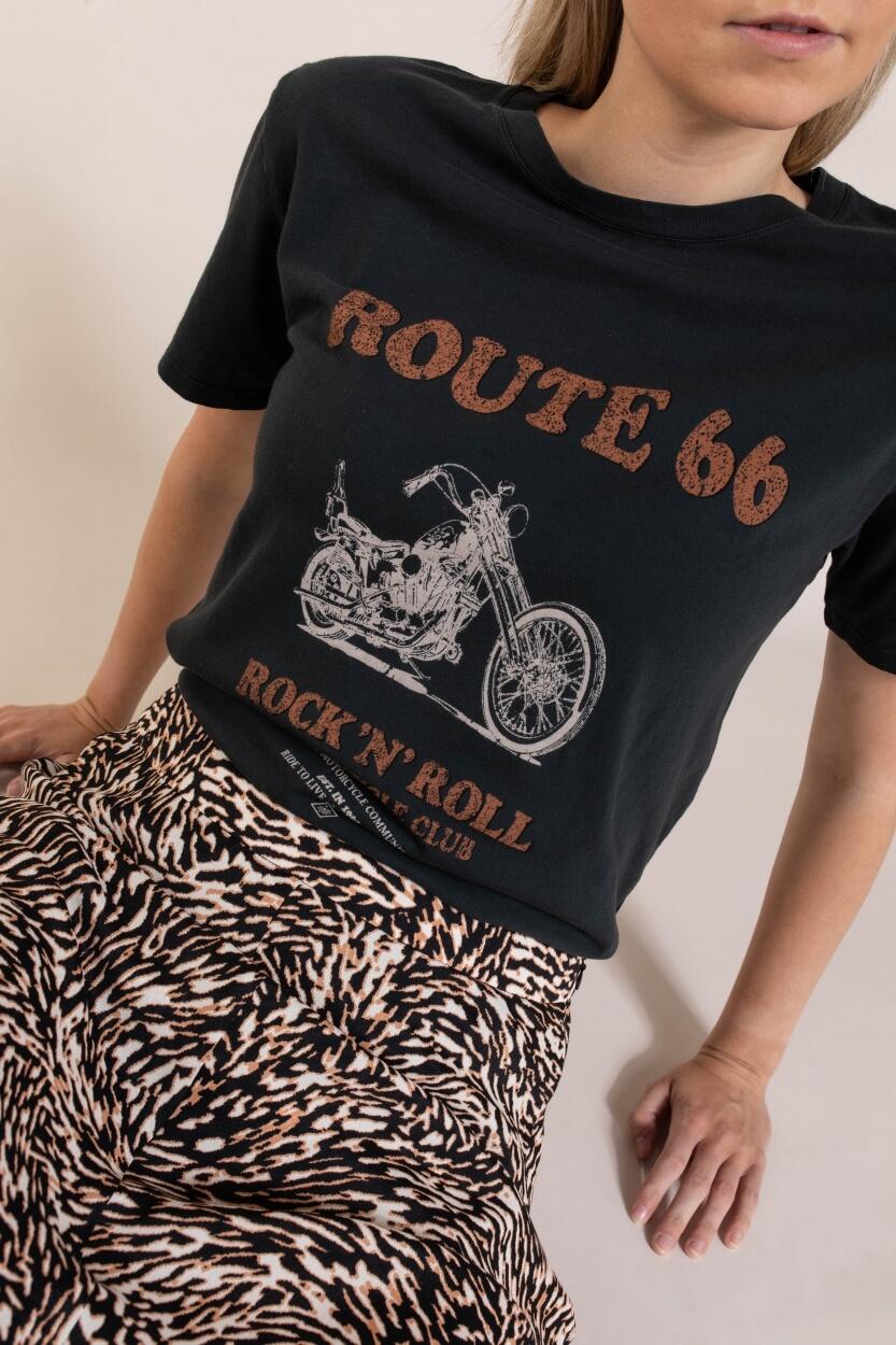 Set Dames Shirt met print Zwart