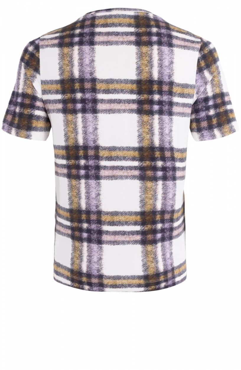 Anna Dames Shirt met ruit dessin Wit