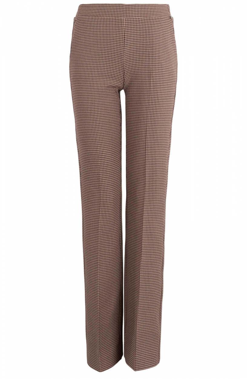 Anna Dames Geruite pantalon Bruin
