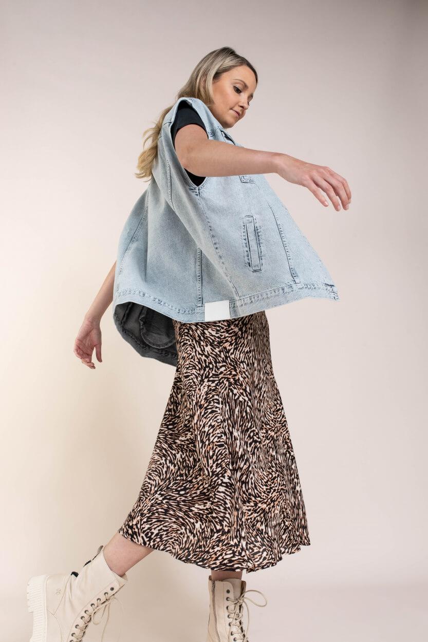 Co Couture Dames Denim gilet Blauw