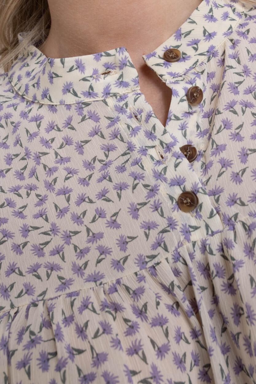 Nümph Dames Blouse met bloemenprint Paars