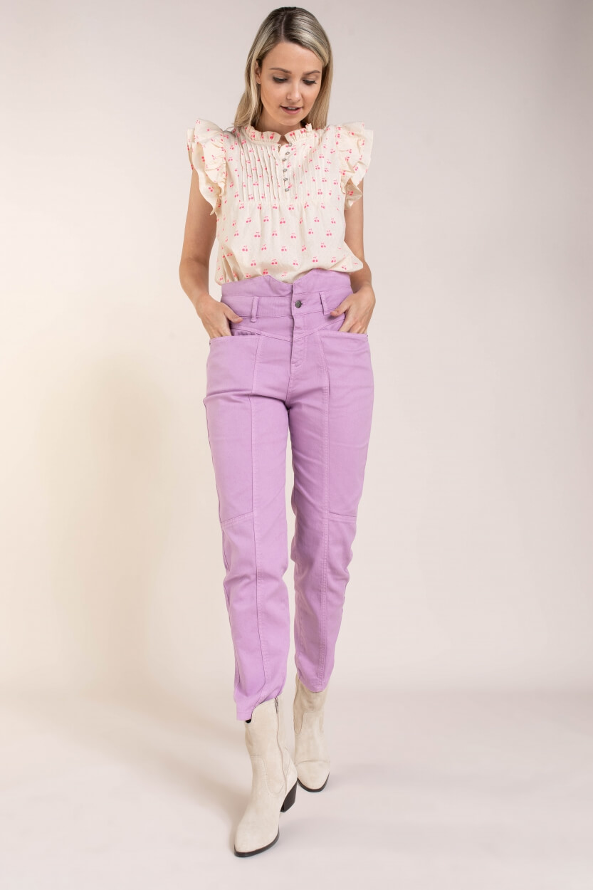 Co Couture Dames Zora jeans Paars