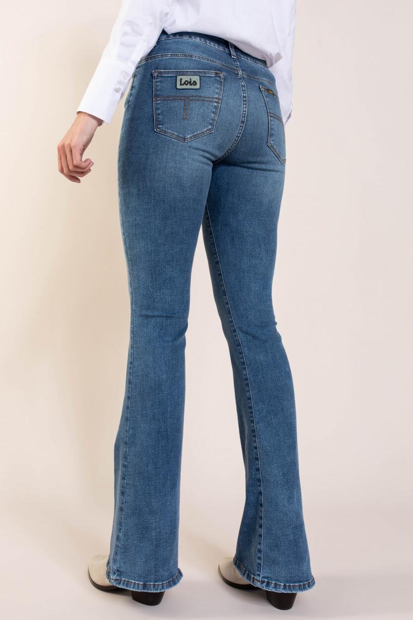 Lois Dames L32 Raval flared jeans Blauw