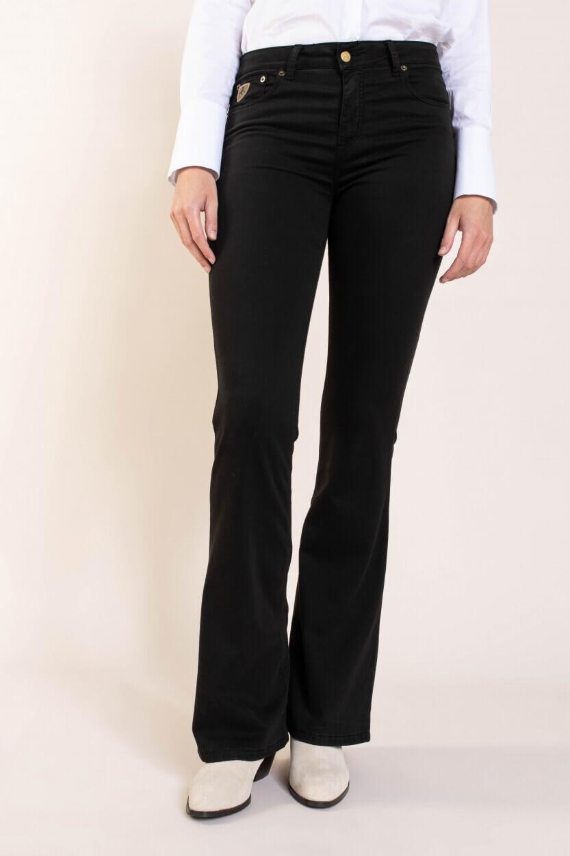 Lois Dames L34 Raval jeans Zwart
