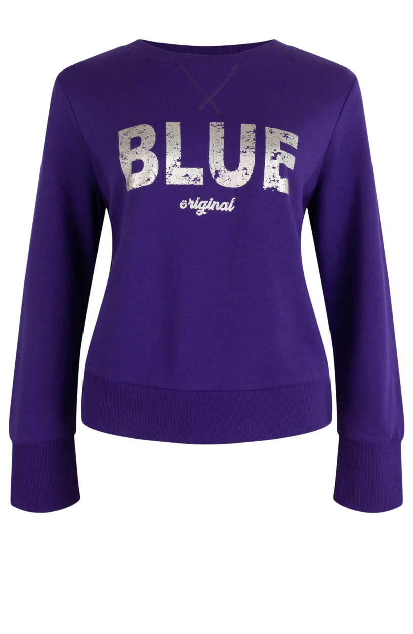 Anna Blue Dames Logo sweater Paars