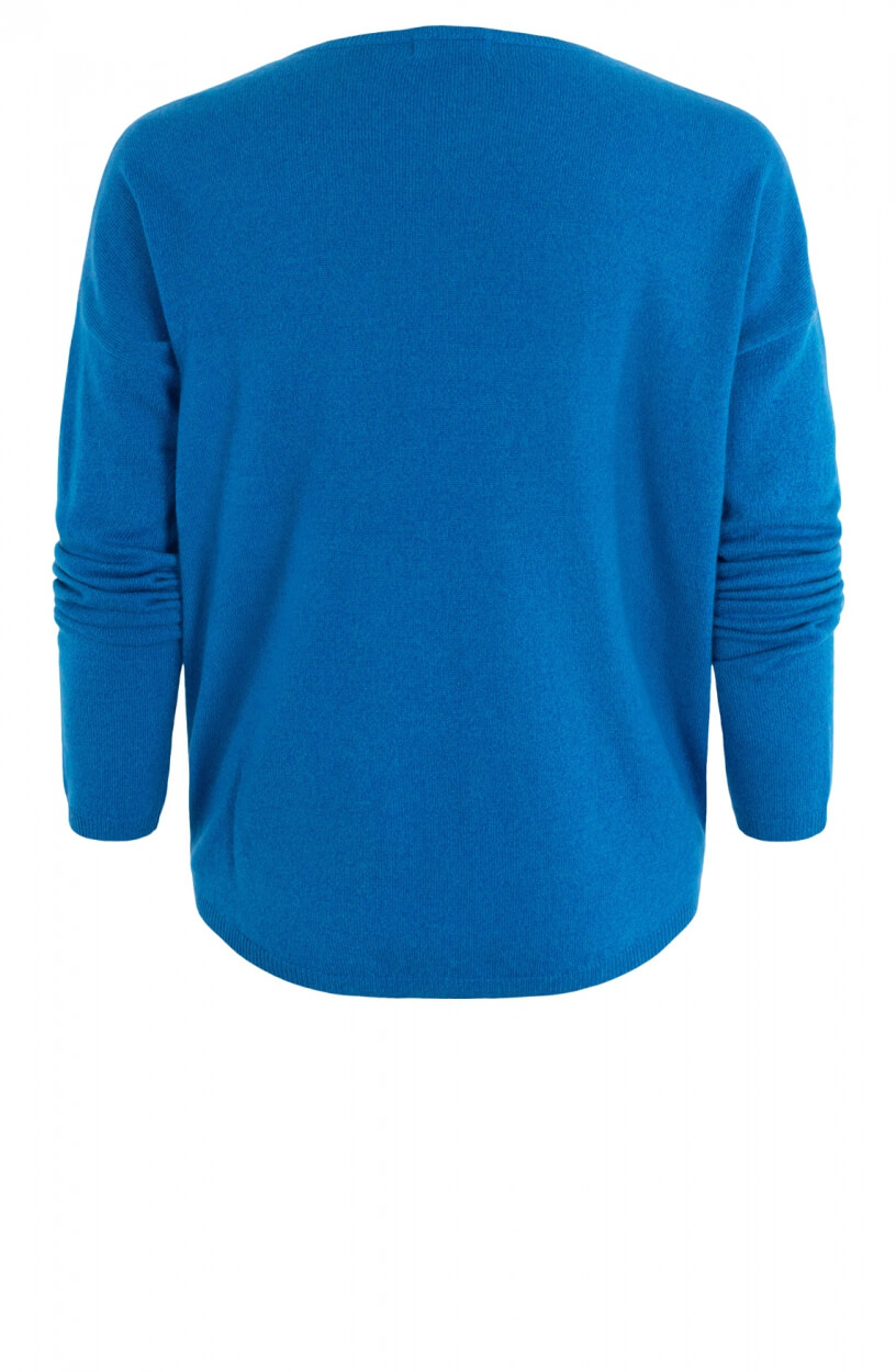 Anna Dames Oversized pullover Blauw