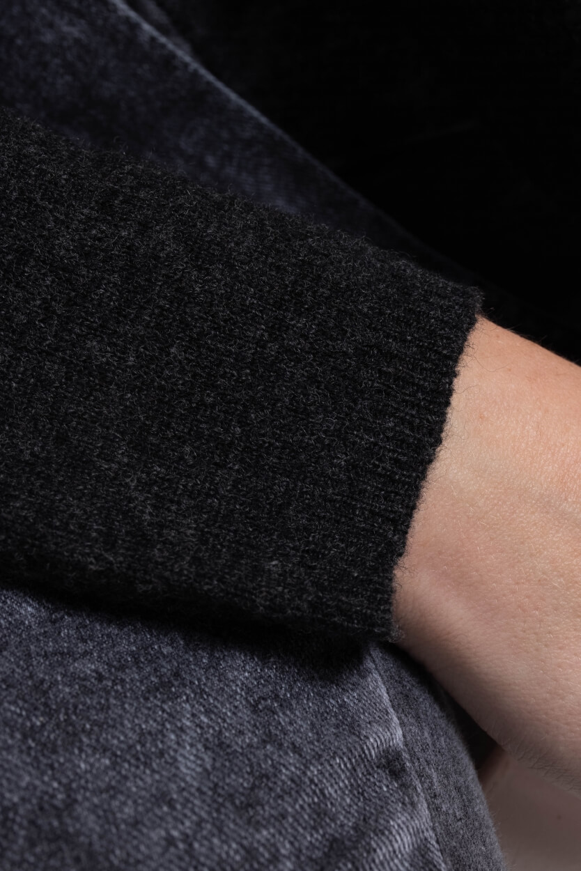 Anna Dames Fijngebreide pullover Grijs
