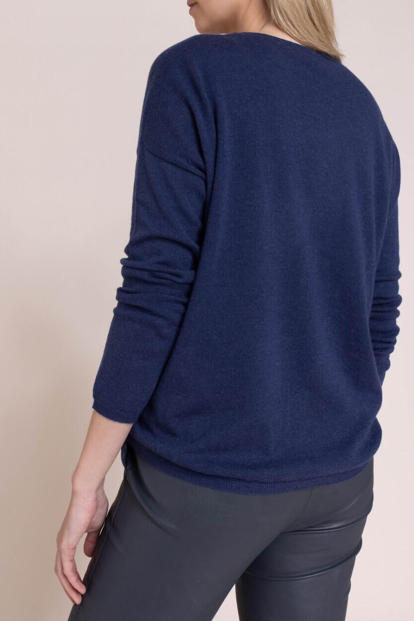 Anna Dames Fijngebreide pullover Blauw