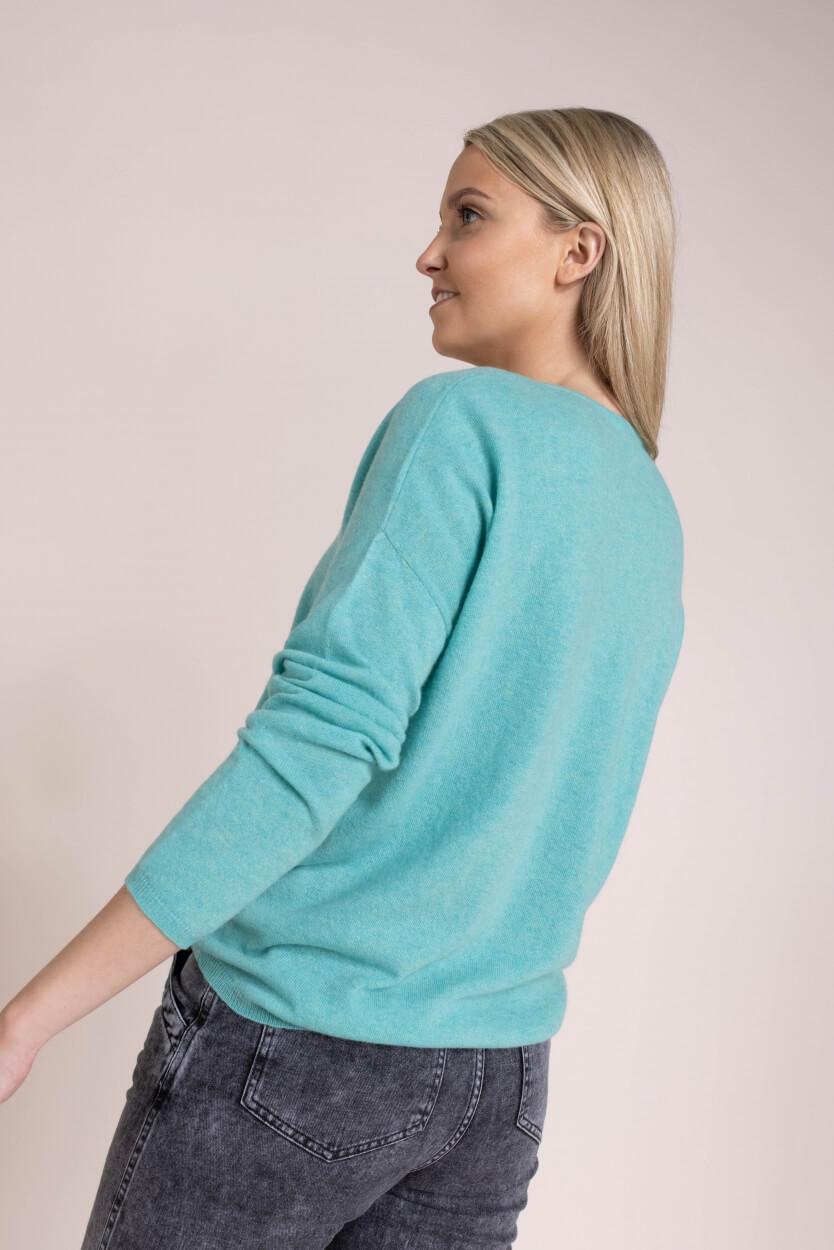 Anna Dames Fijngebreide pullover Groen