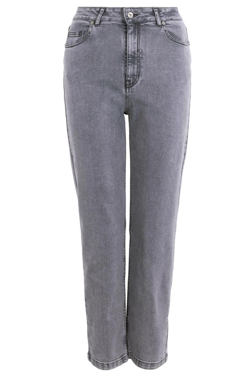Anna Blue Dames Mom jeans Grijs