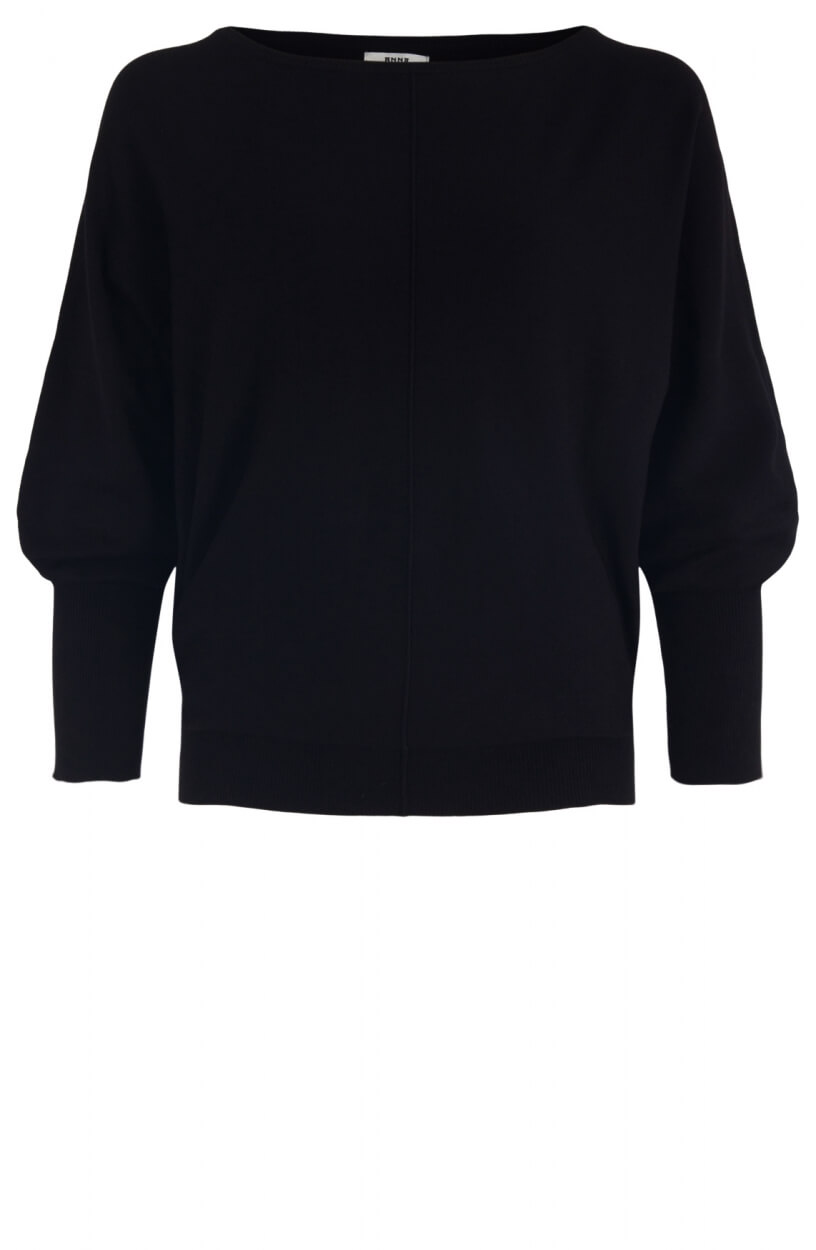 Anna Dames Wijde pullover Zwart