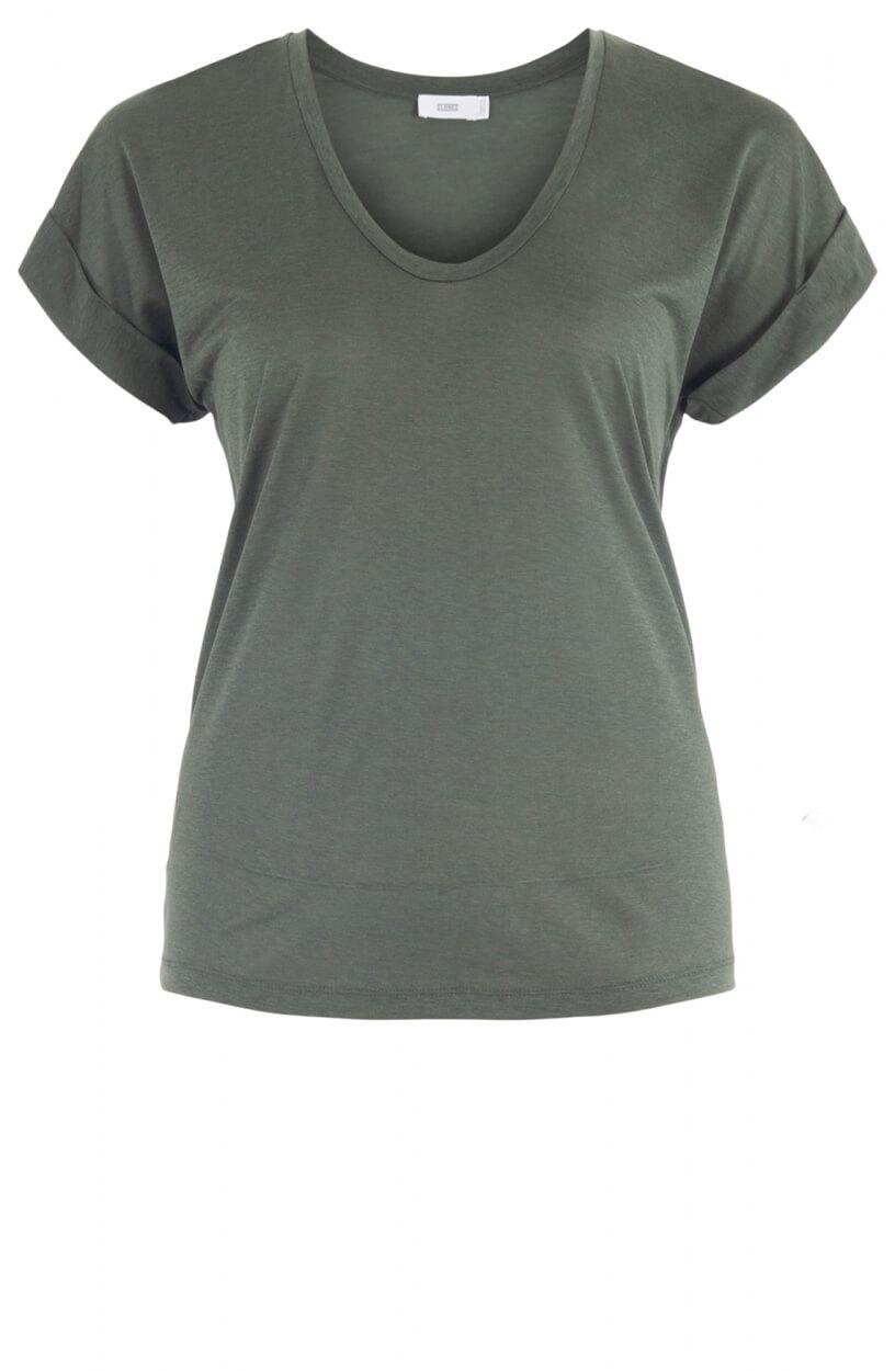 Closed Dames Shirt met v-hals Groen
