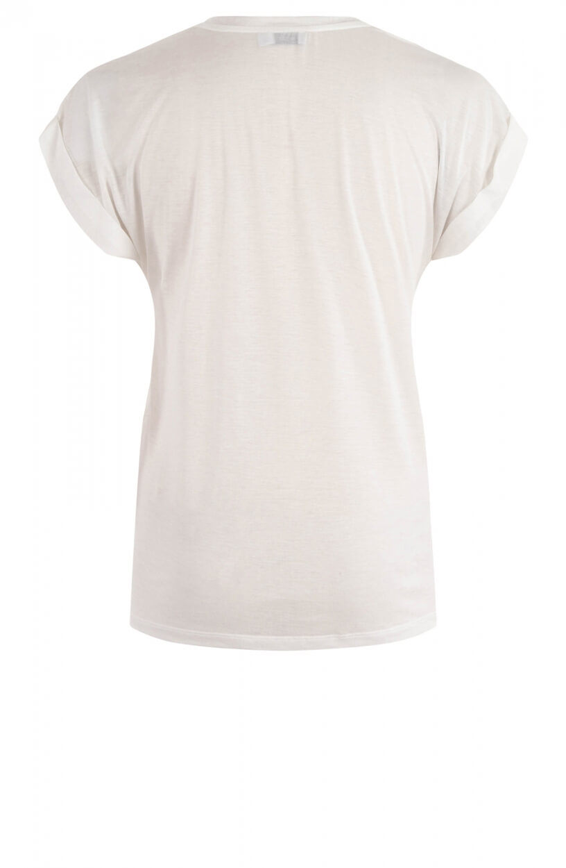 Closed Dames Shirt met v-hals Wit