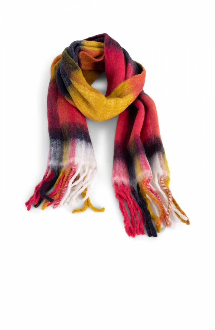 Anna Dames Colorblock shawl Roze