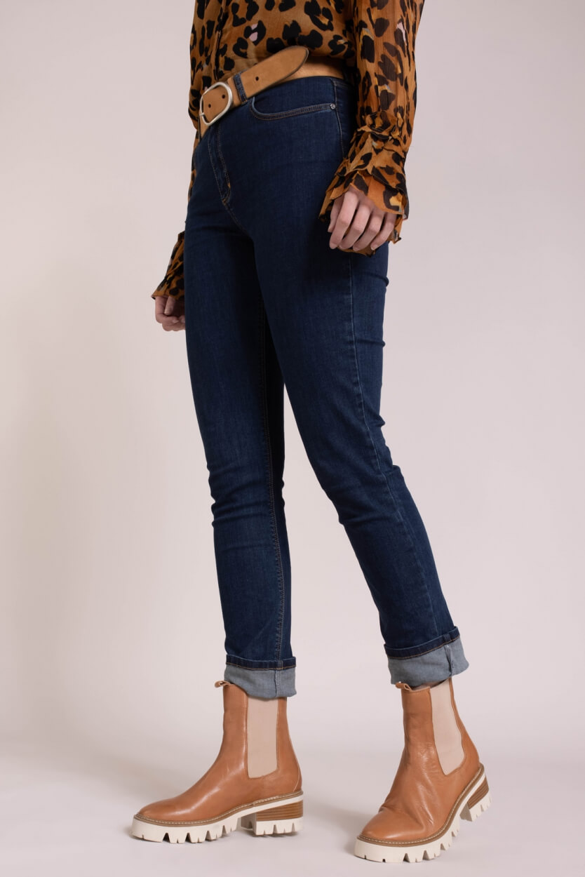 Fabienne Chapot Dames Eva slim jeans Blauw