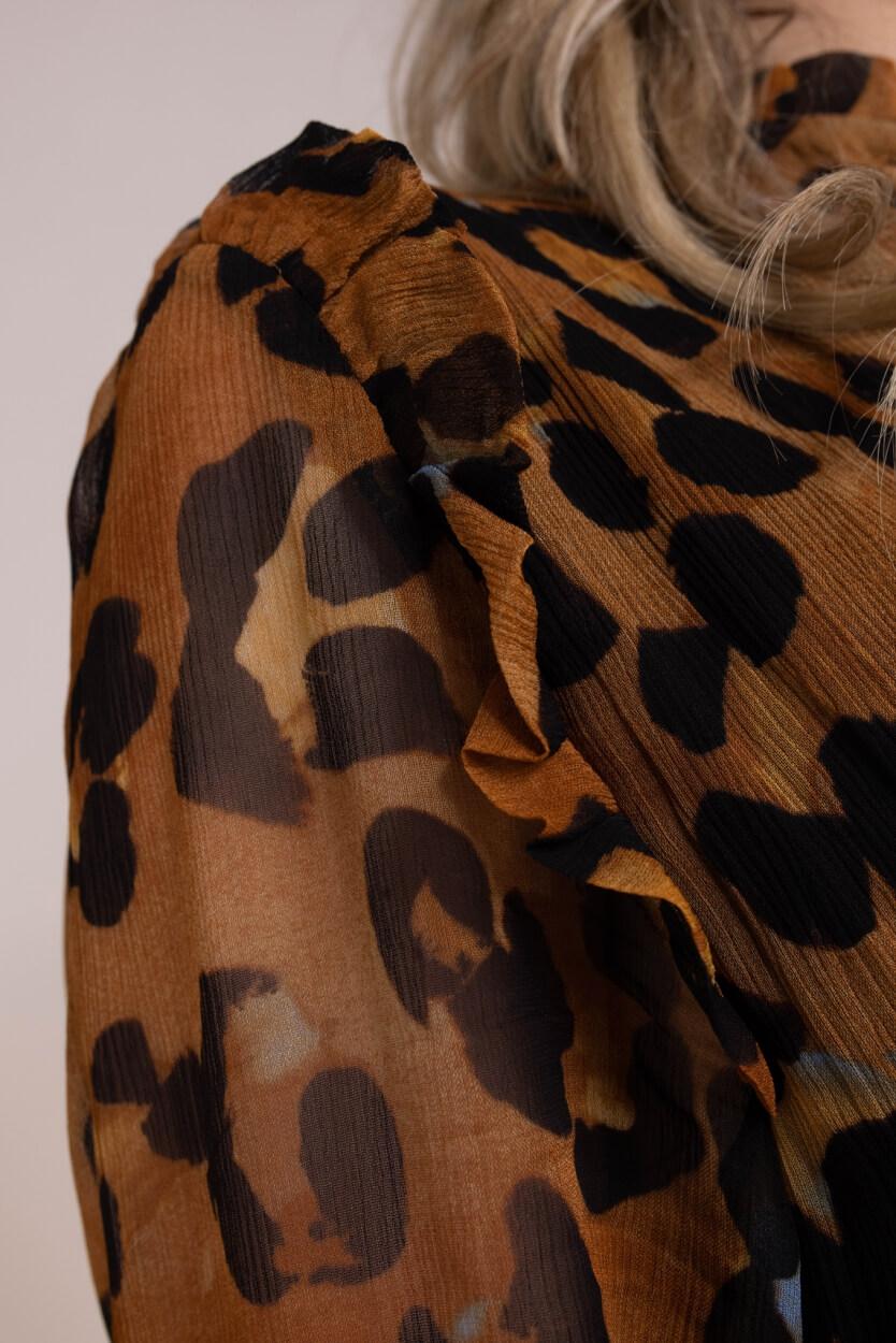 Fabienne Chapot Dames Carmen blouse Bruin