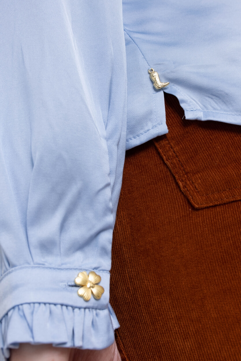 Fabienne Chapot Dames Mira blouse Blauw