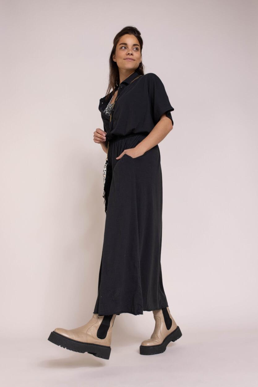 10 Days Dames Polo jurk Zwart