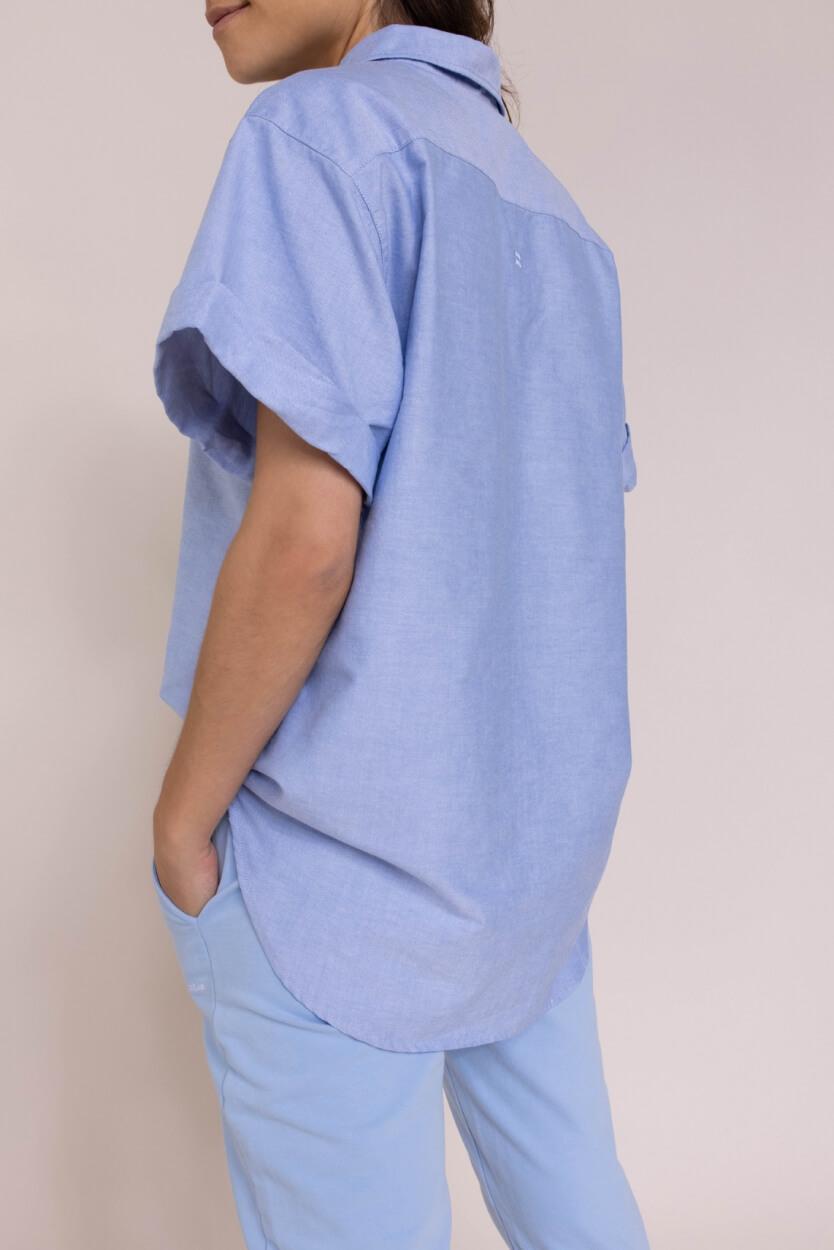 10 Days Dames Blouse met korte mouwen Blauw