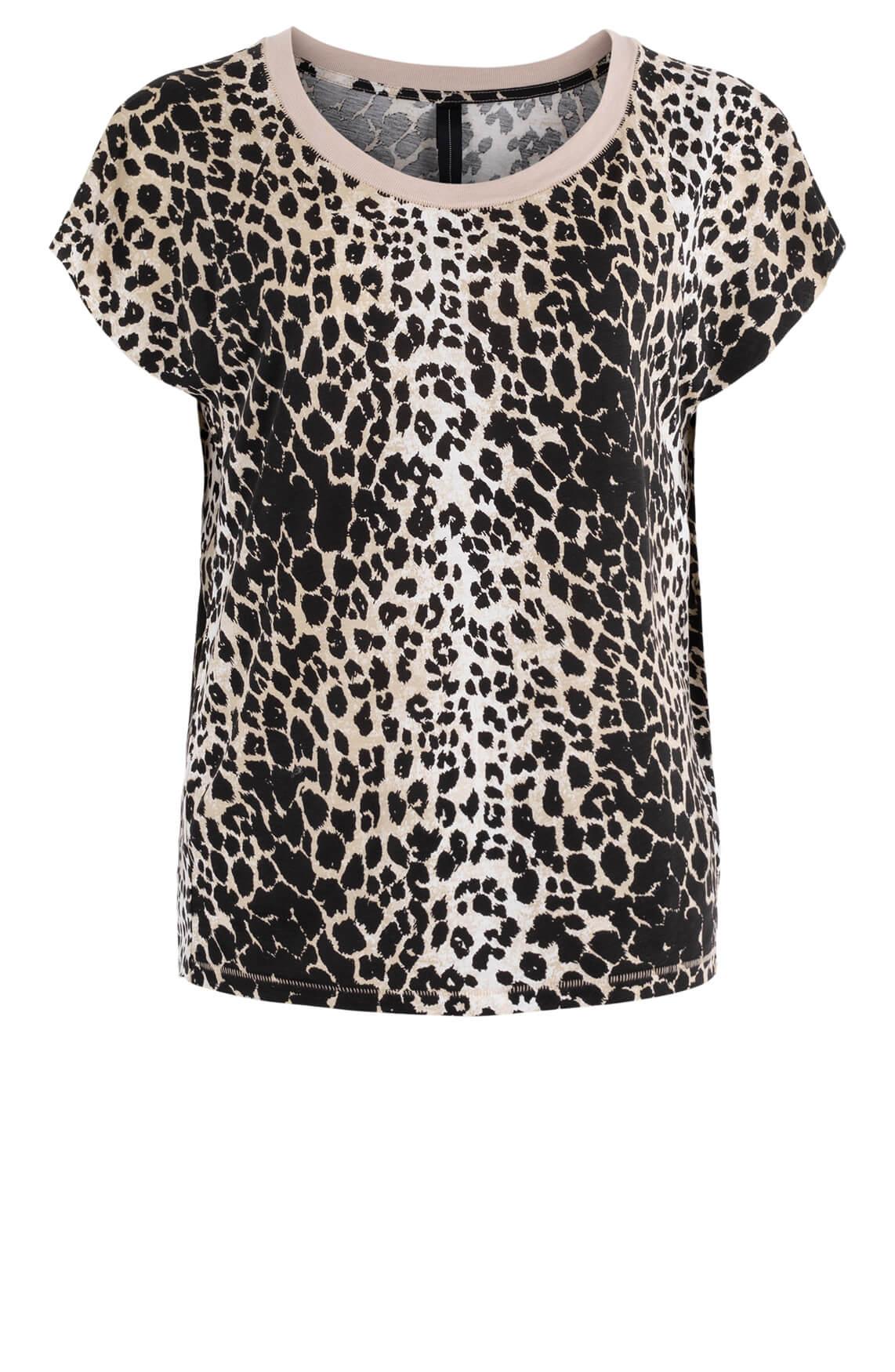 10 Days Dames Leopard shirt Bruin