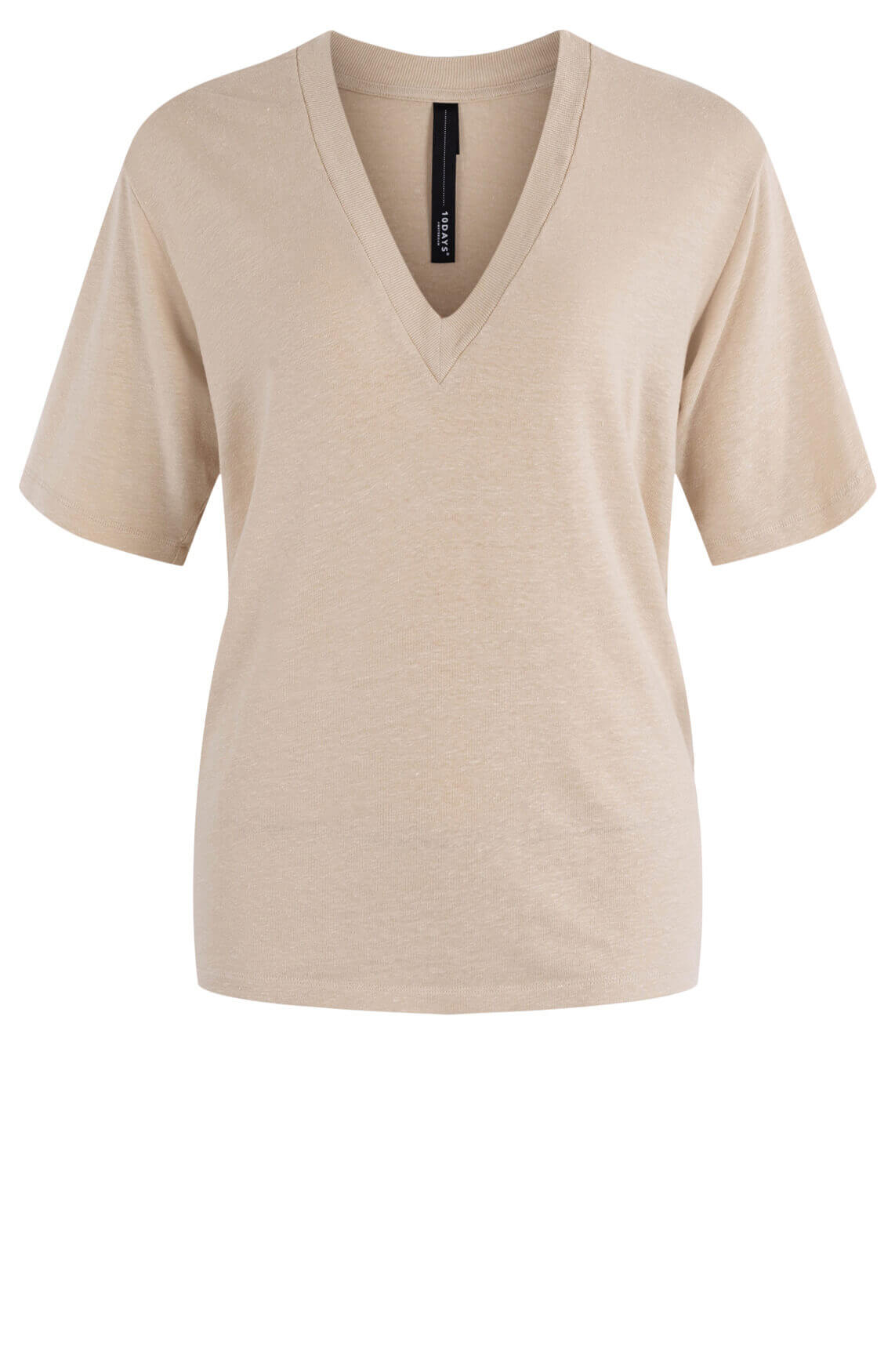 10 Days Dames V-neck shirt Bruin