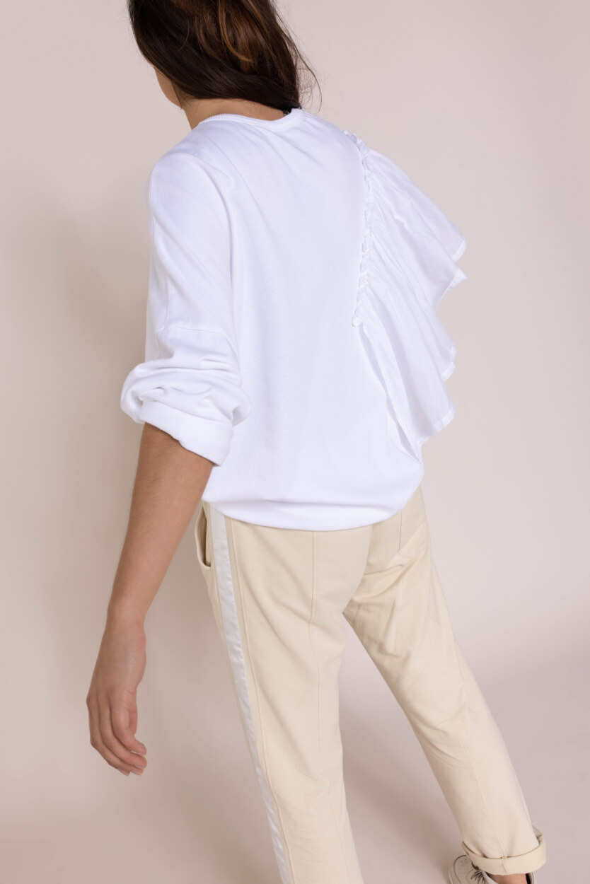 10 Days Dames Voile sweater Wit